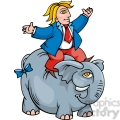 cartoon Republican riding an elephant