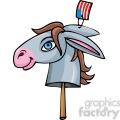 Democratic donkey on a stick
