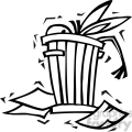 black and white democrat donkey in a trash can gif, png, jpg, eps, svg, pdf
