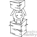 black and white image of a donkey between stacks of documents gif, png, jpg, eps, svg, pdf