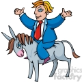 democrat riding a donkey gif, png, jpg, eps, svg, pdf