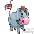 democrat donkey with an american flag on its tail