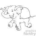 black and white Republican elephant cartoon