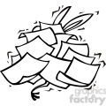 democrat donkey buried under a pile of papers gif, png, jpg, eps, svg, pdf