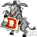 Democratic donkey holding a sign