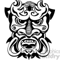 ancient tiki face masks clip art 003