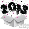 2013 bursting open box new year