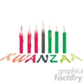 candles setup for kwanzaa