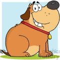 5217-Happy-Fat-Dog-Cartoon-Mascot-Character-Royalty-Free-RF-Clipart-Image