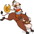 5139-Cowboy-Riding-Bull-In-Rodeo-Royalty-Free-RF-Clipart-Image