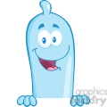 5165-Happy-Condom-Over-A-Sign-Royalty-Free-RF-Clipart-Image