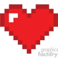 8 bit heart love  gif, png, jpg, eps, svg, pdf