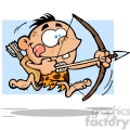 cave boy running with bow and arrow gif, png, jpg, eps, svg, pdf
