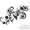 Chinese swirl floral design 003
