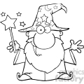 clipart of funny wizard waving with magic wand  gif, png, jpg, eps, svg, pdf