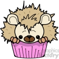 Cupcake Hedgehog in color