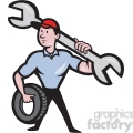 mechanic spanner tyre front  gif, png, jpg, eps, svg, pdf