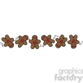 brown Gingerbread Man Border clipart