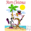cartoon snowman on the beach  gif, png, jpg, eps, svg, pdf