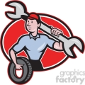mechanic spanner tyre front oval  gif, png, jpg, eps, svg, pdf