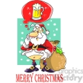 merry christmas santa claus dreaming with a beer