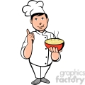 chef carrying hot bowl of soup  gif, png, jpg, eps, svg, pdf