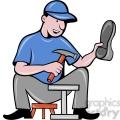 shoe maker with hammer  gif, png, jpg, eps, svg, pdf