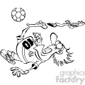soccer player losing his shoe in black and white  gif, png, jpg, eps, svg, pdf