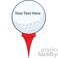 5696 Royalty Free Clip Art Golf Ball With Tee