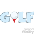 5695 Royalty Free Clip Art Golf Text With Golf Ball Tee