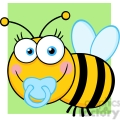 5610 Royalty Free Clip Art Baby Boy Bee Cartoon Mascot Character