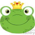 5650 royalty free clip art cute frog smiling head with crown  gif, png, jpg, eps, svg, pdf