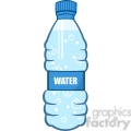 6241 Royalty Free Clip Art Cartoon Water Bottle
