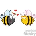 6554 Royalty Free Clip Art Cute Bee Looking Female Bee