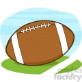 6557 Royalty Free Clip Art American Football Ball On Field Cartoon Illustration
