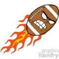 6564 royalty free clip art angry flaming american football ball cartoon mascot character  gif, png, jpg, eps, svg, pdf