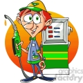 cartoon gas attendant  gif, png, jpg, eps, svg, pdf