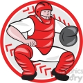 baseball catcher front catching  gif, png, jpg, eps, svg, pdf