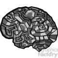 brain illustration polygons vector clip art image