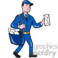 mailman mailbag delivering mail vector