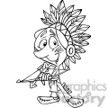 native american guy holding bow and arrow black and white  gif, png, jpg, eps, svg, pdf