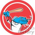 baseball catfish batting up in circle shape  gif, png, jpg, eps, svg, pdf