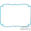 blue lines frame swirls boutique design border 11