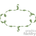 green floral frame swirls boutique design border 1