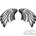 vector feather wing tattoo design gif, png, jpg, eps, svg, pdf