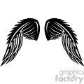 vinyl ready vector wing tattoo design 062