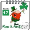 Royalty Free RF Clipart Illustration St Patricks Day Calendar