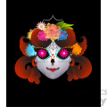 day of the dead 1 cartoon character illustration  gif, png, jpg, eps, svg, pdf