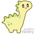 yellow baby dinosaur 3 cartoon character illustration