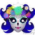 day of the dead lady skull character illustration  gif, png, jpg, eps, svg, pdf